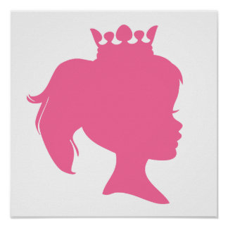 Pink Silhouette Princess T-shirts and Gifts Posters