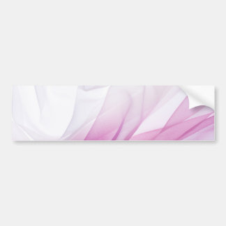 Pink silk bumper sticker