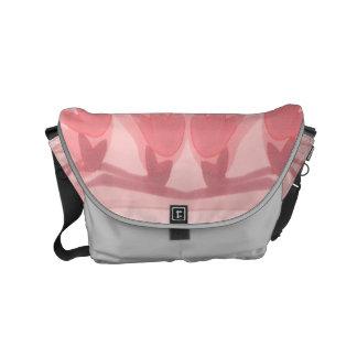 Pink silk Fleur to tend Small Messenger Bag