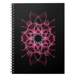 Pink Silk Flower 80 Page Lined Photo Notebook