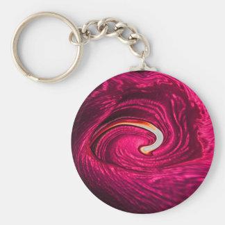 Pink Silk Keychain