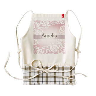 Pink,silk,lace,girly,cute,victorian,vintage,chic, Zazzle HEART Apron