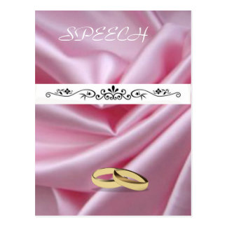 Pink Silk With Wedding Rings Postcard