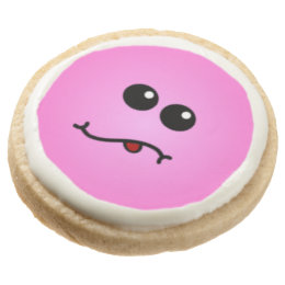 pink silly smiley cookies