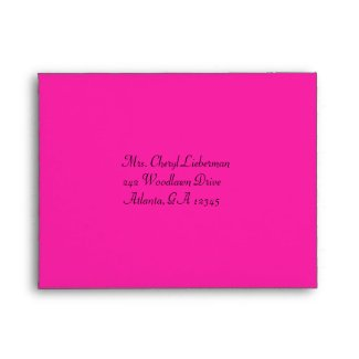 Pink, Silver, and Black Damask A2 RSVP Envelope envelope