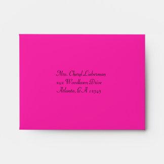 Pink, Silver, and Black Damask A2 RSVP Envelope