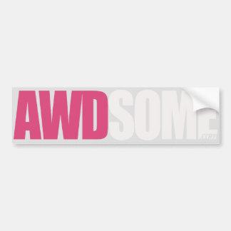 pink silver bumper sticker