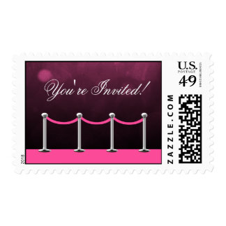 Pink Silver Carpet Hollywood Stamps