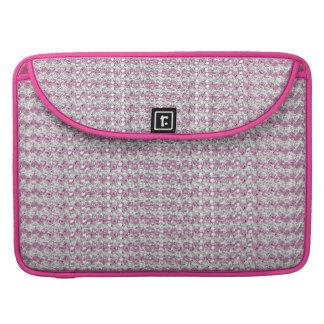 Pink Silver Diamond Studded Gems Sleeve For MacBooks