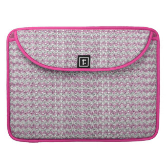 Pink Silver Diamond Studded Gems Sleeve For MacBook Pro