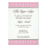 Pink & Silver, Diamonds & Lace, Mis Quince Anos Personalized Announcements