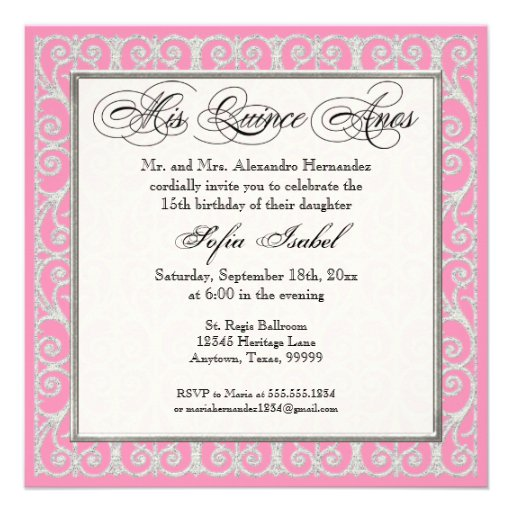Spanish Wording For Quinceanera Invitations with perfect invitations template