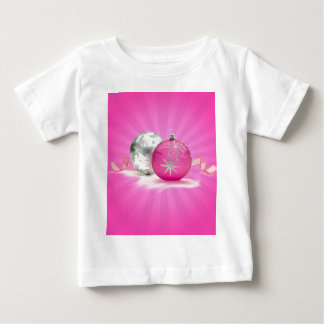 PINK & SILVER ORNAMENTS by SHARON SHARPE Baby T-Shirt