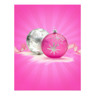 PINK & SILVER ORNAMENTS by SHARON SHARPE Flyer