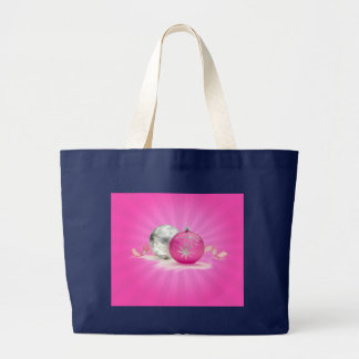 PINK & SILVER ORNAMENTS by SHARON SHARPE Large Tote Bag