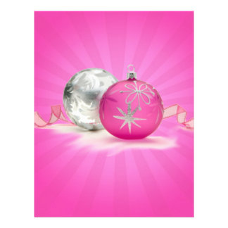 PINK & SILVER ORNAMENTS by SHARON SHARPE Letterhead Design