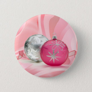 PINK & SILVER ORNAMENTS by SHARON SHARPE Pinback Button