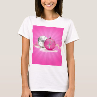 PINK & SILVER ORNAMENTS by SHARON SHARPE T-Shirt