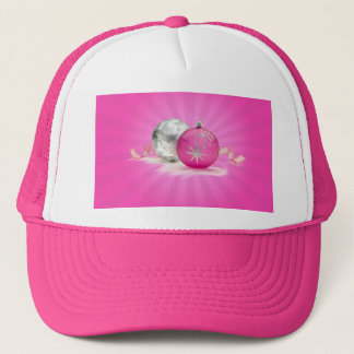 PINK & SILVER ORNAMENTS by SHARON SHARPE Trucker Hat