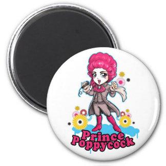 Pink & Silver Poppycock Fridge Magnets