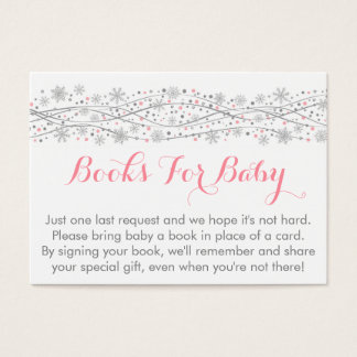 Pink & Silver Snowflake Book Request Cards