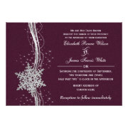 pink silver Snowflakes Winter wedding invites by mgdezigns