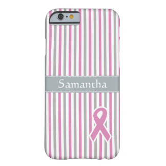 Pink & Silver Stripes custom monogram cases