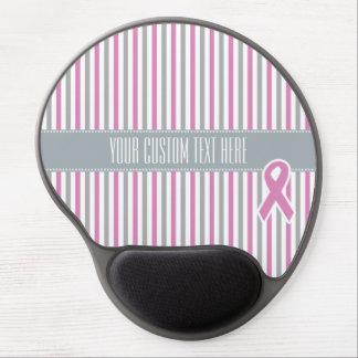 Pink & Silver Stripes custom mousepad
