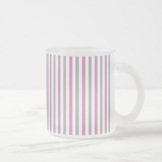 Pink & Silver Stripes custom mug - choose style