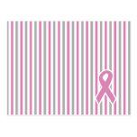 Pink & Silver Stripes custom postcard