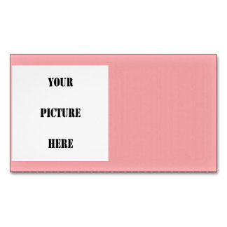 PINK SIMPLE Bordered Image inset ~ Business Card Magnet