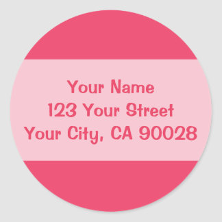 pink simple classic round sticker
