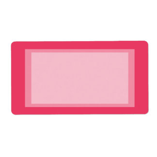 pink simple label