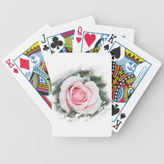 Pink Single Rose rubbed Scratch Frame Card Decks