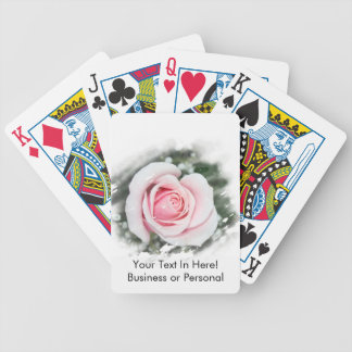 Pink Single Rose rubbed Scratch Frame Deck Of Cards