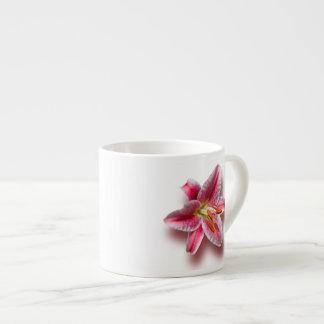 Pink Single Stargazer Lily Espresso Cup