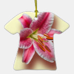 Pink Single Stargazer Lily Ornament
