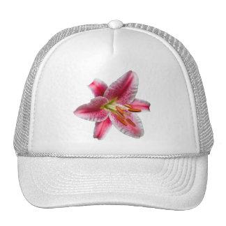Pink Single Stargazer Lily Trucker Hat