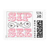 Pink Sip And See Meet The New Baby Postage