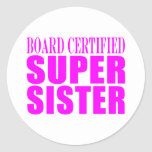 Pink Sisters Birthdays & Christmas : Super Sister Stickers