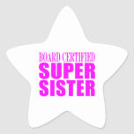 Pink Sisters Birthdays & Christmas : Super Sister Star Stickers