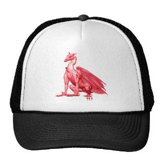 Pink Sitting Dragon Trucker Hat
