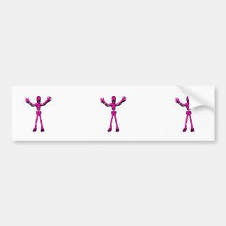 Pink Skeleton Bumper Sticker