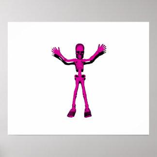 Pink Skeleton Print