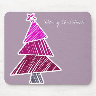 Pink Sketchy Christmas Tree Mousepad