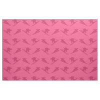 Pink ski pattern fabric