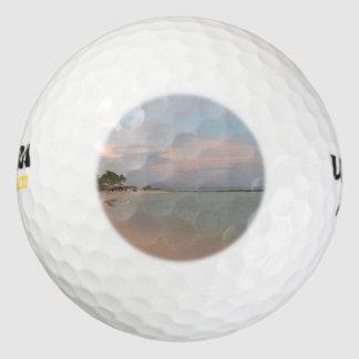 Pink Skies in Aruba Pack Of Golf Balls