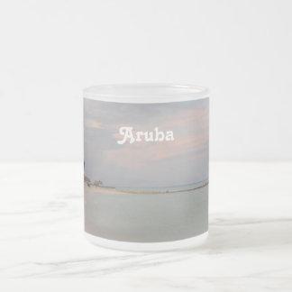 Pink Skies in Aruba 10 Oz Frosted Glass Coffee Mug