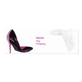 Pink - Skinny Double-Sided Mini Business Cards (Pack Of 20)