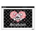 Pink Skull 17 Inch Laptop Skin